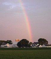 Rainbow over a Lancaster County Amish Farm