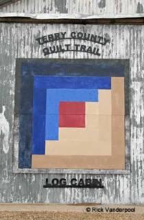 Log Cabin quilt block
