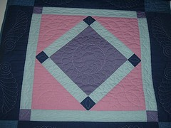 Diamond in the Square quilt