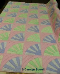 Carolyn Sowell Grandmothers Fan quilt