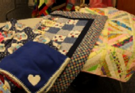 Project Linus blankets -- with blue quilt
