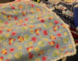 Project Linus blanket -- baby blue fleece