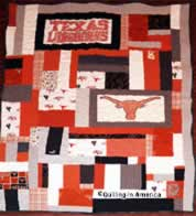 T-shirt quilt celebrating UT Longhorns