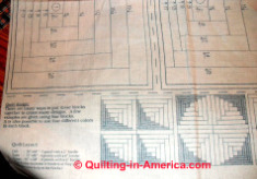 Quilting Assistant : Free Quilt Pattern : Log Cabin
