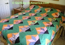 Colorful vintage quilt