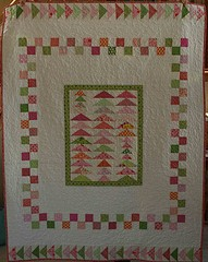 Flying Geese medallion quilt