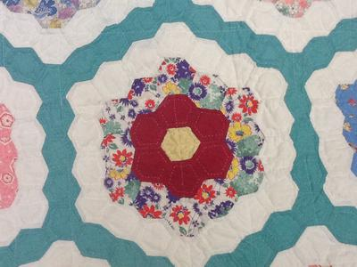 Detail of tiny hexagons