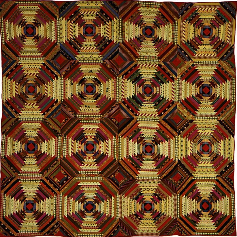 Stunning pineapple quilt