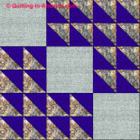 Winged Square quilt block