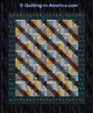 Amish Log Cabin quilt top -- Straight Furrows