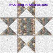 Ohio Star quilt block