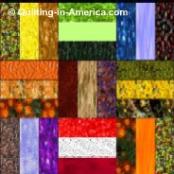 Roman Square multi-color quilt block