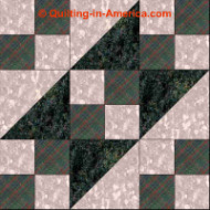 Underground Railroad variation quilt block