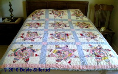 Scrappy String Star quilt