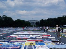 AIDS Quilt on display in Washington DC.