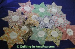 Vintage Star Flower quilt blocks