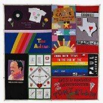 AIDS memorial panels.