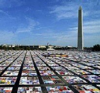 AIDS Quilt on the Washington Monument lawn.