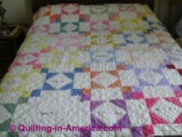 multi-colored signature quilt