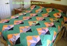 Colorful vintage quilt