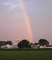 Rainbow over a Lancaster County Amish Farm