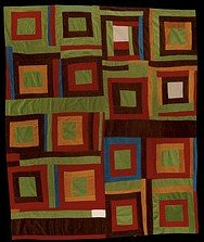 Gees Bend  Housetop quilt