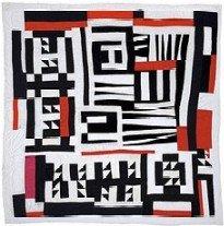 Gees Bend  Blocks, strips, strings, & half squares quilt