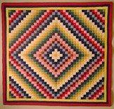 Bold patchwork quilt