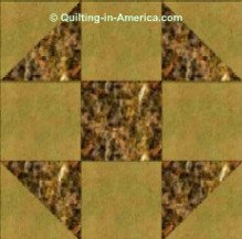 Simple Shoo-Fly quilt block