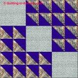 Winged Square quilt block