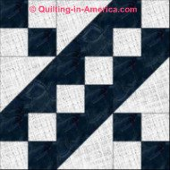 Jacobs Ladder 9-patch quilt block