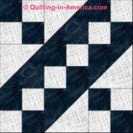 Jacobs Ladder 9-patch quilt block