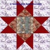 Lone Star quilt block