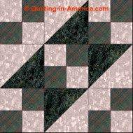 Underground Railroad variation quilt block