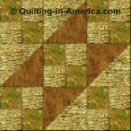 Wagon Tracks variation quilt block