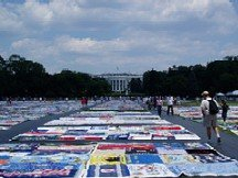 AIDS Quilt in front of the White House