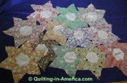 Vintage Star Flower quilt blocks